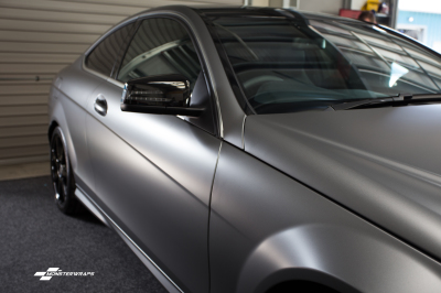 Mercedes C Class AMG Matte Graphite Metallic wrap & Ceramic PRO