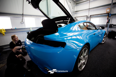 Aston Martin DB8 Gloss light blue wrap