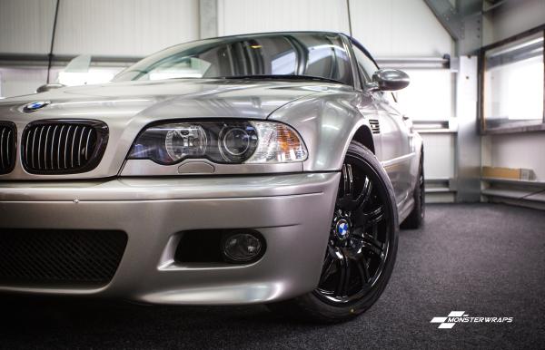 BMW M3 Gloss Aluminium full wrap with Ceramic PRO