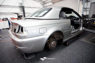 BMW M3 Gloss aluminium silver wrap with ceramic pro 9H treatment