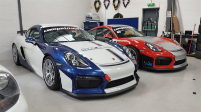Brookspeed Cayman GT4 race wrap and paint protection