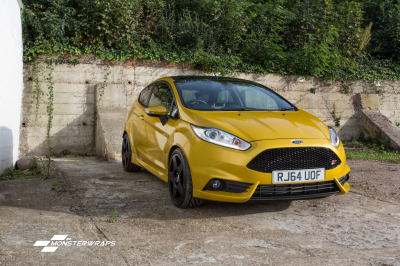 Ford Fiesta ST Gloss metallic yellow wrap