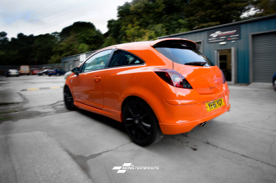 Vauxhall Corsa D Gloss Orange wrap