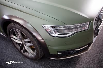 Audi A6 Allroad matte military green wrap