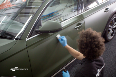 Audi A6 Allroad matte military green wrap