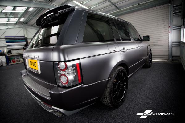 Overfinch Range Rover Vogue Satin dark grey wrap