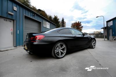 BMW M6 Satin Frozen Black wrap & Ceramic PRO Suothampton Car wrapping Best