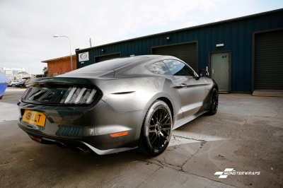 Ford Mustang Carbon fibre interior trim wrap and paint protection