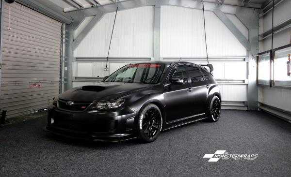 Subaru Impreza STi Hatchback Satin black wrap
