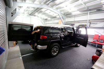 Toyota FJ Cruiser Matte Gunmetal wrap