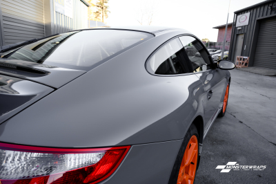 Porsche 911 GT3 Gloss dark Grey wrap & Ceramic PRO