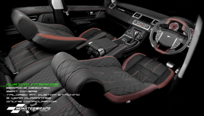 custom seats, custom seat covers, tailored interiors, alcantara seats