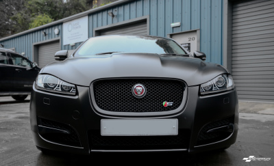 Jaguar XF-S Satin black wrap & Ceramic PRO