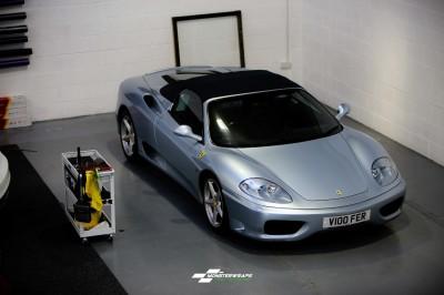 Ferrari F360 Frosty Matte Blue Metallic wrap