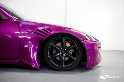 Nissan 350Z widearch fierce fuchsia wrap