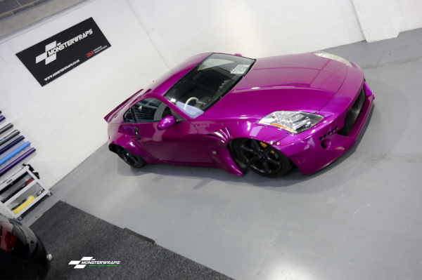3M Gloss fierce fuchsia car wrap colour