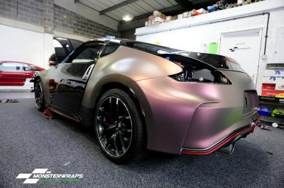 Nissan 370Z Matte Aubergine Bronze full wrap