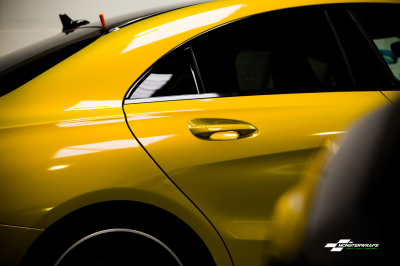 Mercedes CLA A45 AMG Gloss Lemon Sting wrap