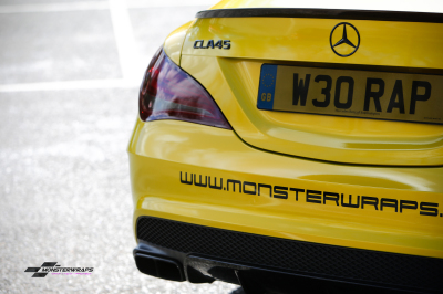 Mercedes CLA A45 AMG Gloss Lemon Sting wrap