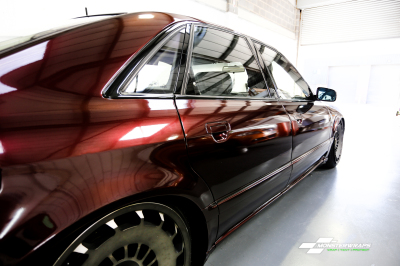 Audi A8 Gloss Black rose wrap