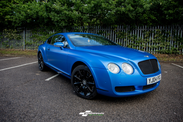 Bentley Continental GT 3M Satin Perfect Blue wrap
