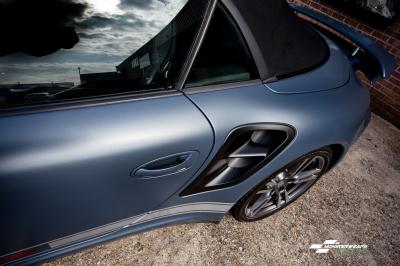 Porsche 911 Cabriolet 3M Satin Thundercloud wrap