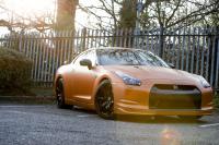 Nissan GTR Blaze Orange wrap car van truck wrap southampton