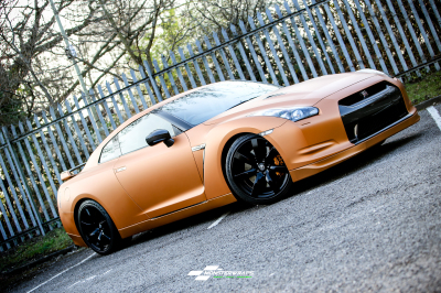 Nissan GTR Matte Blaze Orange Wrap