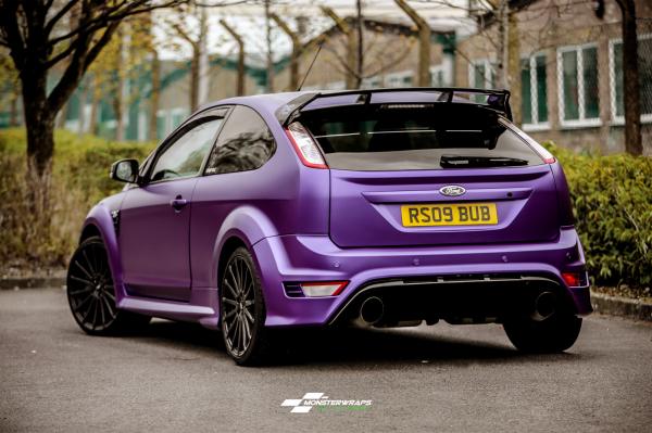 Ford Focus RS Satin Metallic Purple wrap