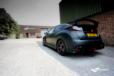 Honda Civic Type R FK2 Matte Black wrap  car van truck wrap southampton hampshire