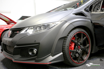 Honda Civic Type R FK2 Matte Black wrap