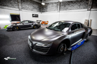 Audi R8 V10 Satin Dark Grey wrap car van truck wrap southampton