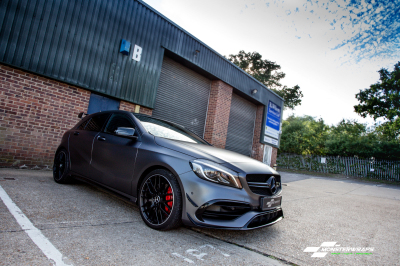 Mercedes A45 AMG 3M Satin dark grey wrap