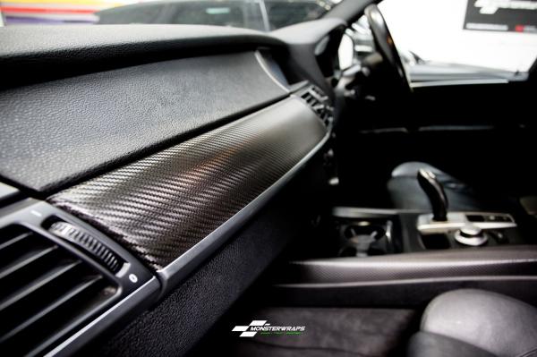 BMW X5 interior trim wrap 3M carbon fibre