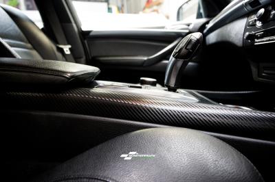 BMW X5 interior trim wrap 3M carbon fibre car van truck wrap southampton