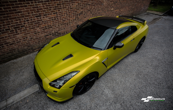 Nissan GTR Satin Bitter Yellow wrap