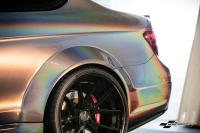 C63 AMG psychedelic wrap car van truck wrap southampton