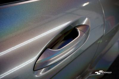 Mercedes C63 AMG 3M Psychodelic wrap car van truck wrap southampton