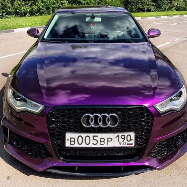 Gloss purple metallic wrap