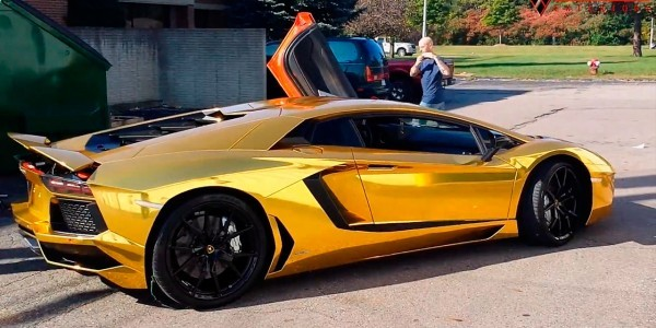 Gold chrome wrap