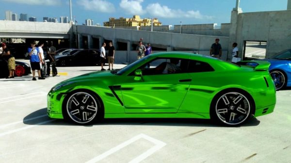 Green chrome wrap