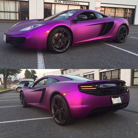 Satin purple chrome wrap