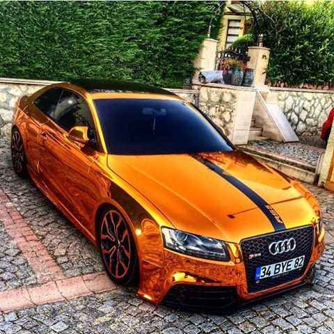 Orange chrome wrap