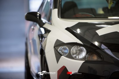 Seat Leon Cupra custom camo wrap
