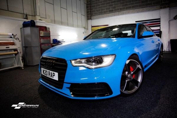 Audi A6 C7 Gloss light blue wrap