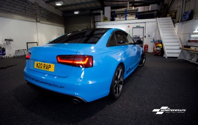 Audi A6 C7 Gloss Light Blue wrap