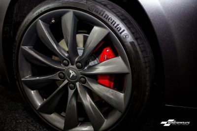 Tesla Model S Satin Dark Grey wrap