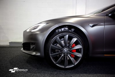 Tesla Model S Satin Dark Grey wrap