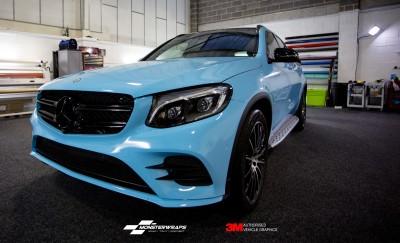 Mercedes GLC AMG Gloss Sky Blue wrap