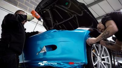 Nissan 350Z Gloss Ocean Shimmer wrap